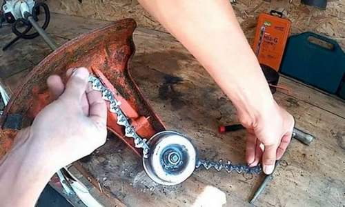 Chain From Chainsaw To Trimmer Do It Yourself