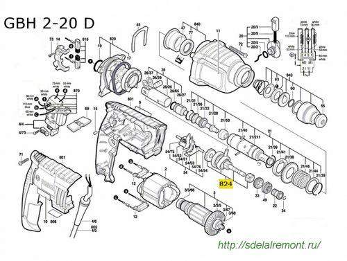 How to Disassemble a Bosch Gbh 2 24 Hammer