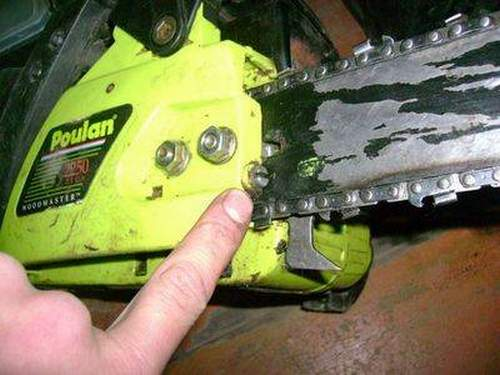 How to Put a Chain on a Saw