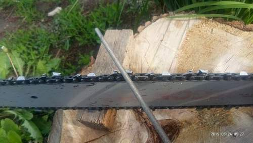 How to Sharpen a Chainsaw Chain at Home