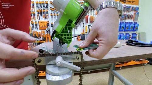 How to Sharpen a Chainsaw Chain on a Loom Video