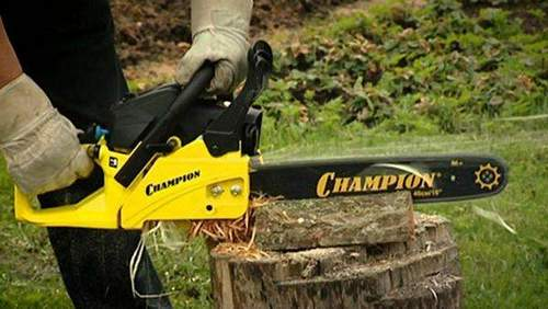 How to String a Chain on a Champion Chainsaw