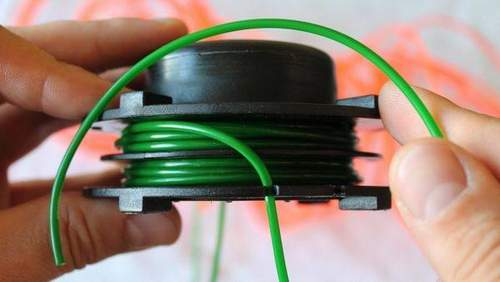 How to Wind a Fishing Line onto a Bosch Trimmer Coil