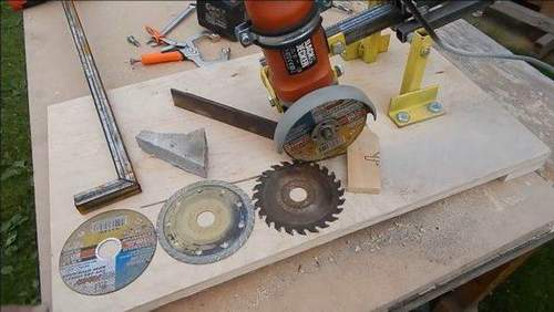 Make Stand For Angle Grinder With Broach