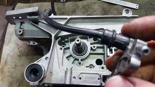 Stihl 180 Flowing Oil Bottom