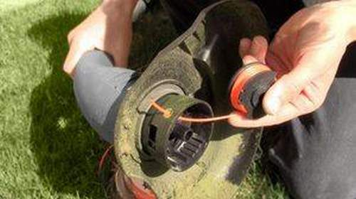 Trimmer Replace Fishing Line With Knife