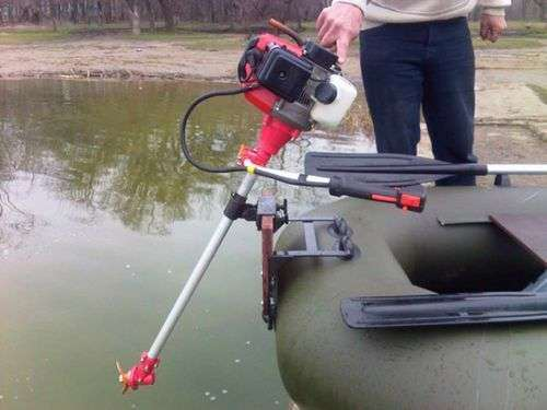 Conversion Of The Trimmer Into A Boat Motor