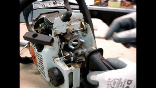 Removing The Carburetor Stihl 180