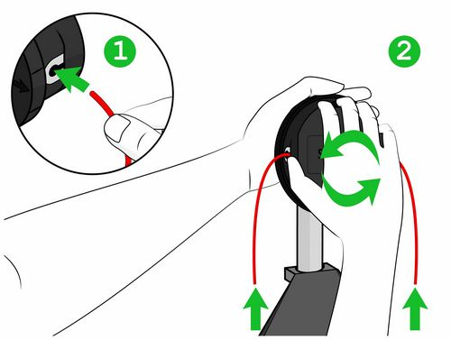 How To Insert The Line Into The Trimmer Head